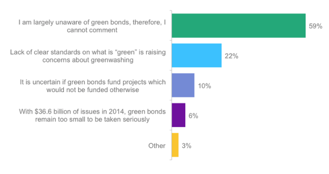 What's the principal challenge facing the green bond market?