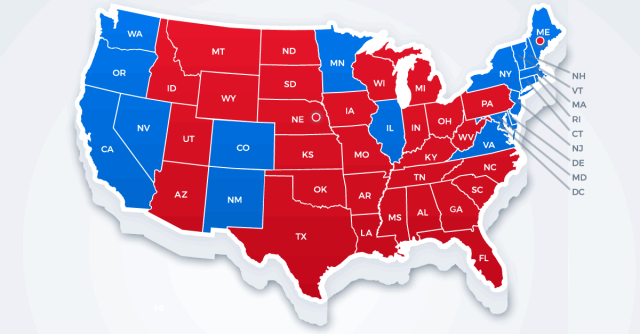 Red States, Blue States: Two Economies, One Nation | CFA Institute ...