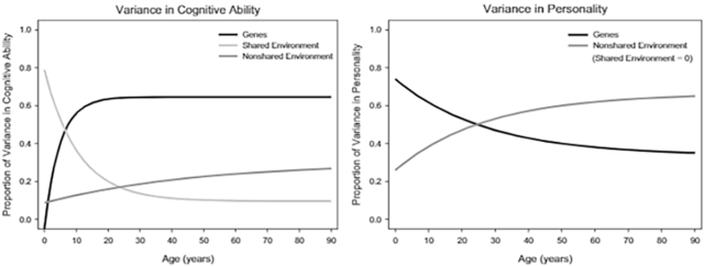 Proportion of Variation in Cognitive Ability and Personality Attributable to Genetic Factors