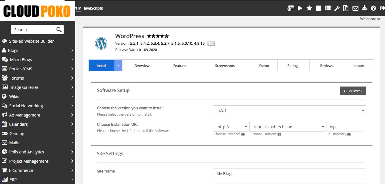 WordPress Installation