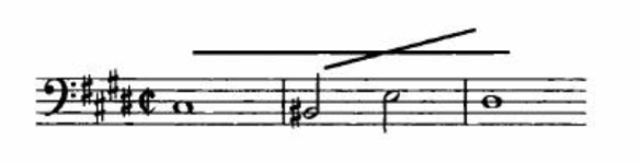 Fugue-subject of Bach's Fugue in C sharp minor represented cross and thus the Christ in the Baroque period. Credit: Eero Tarasti