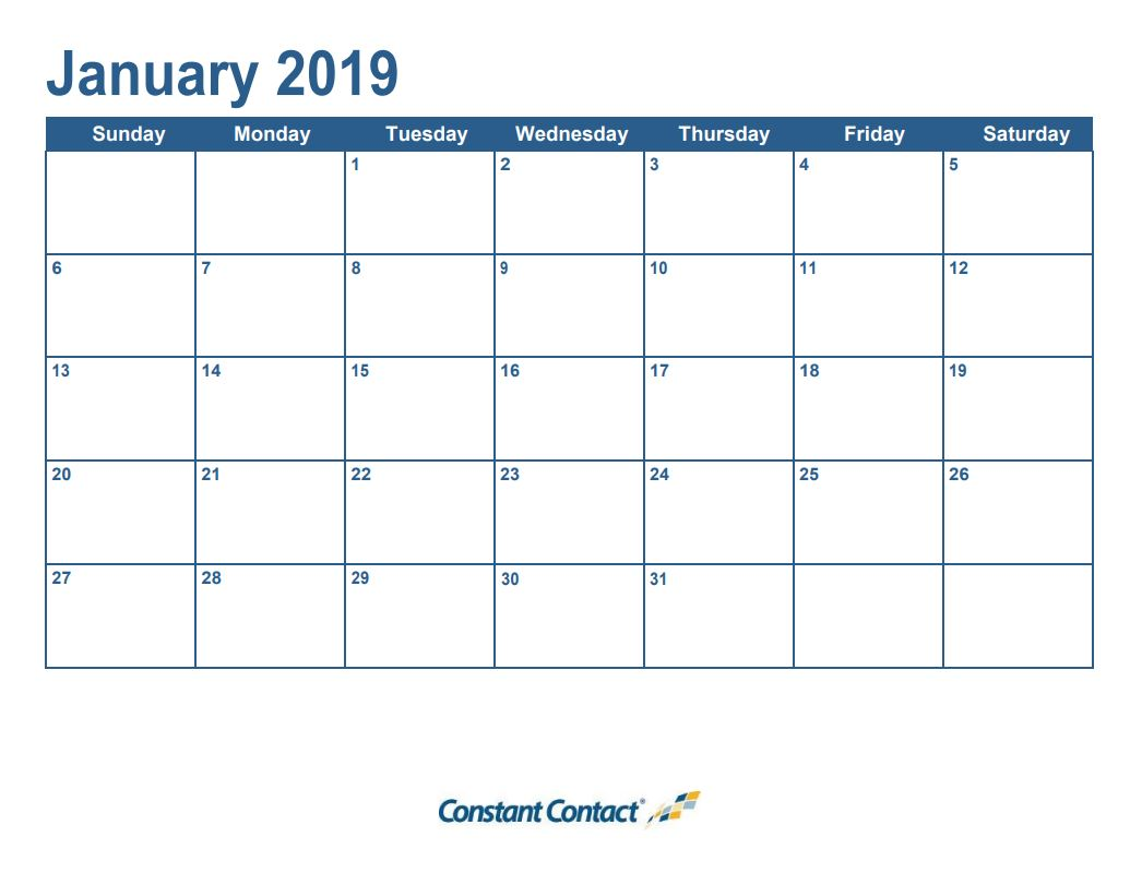 It S Here Your 2019 Email Marketing Calendar Constant Contact