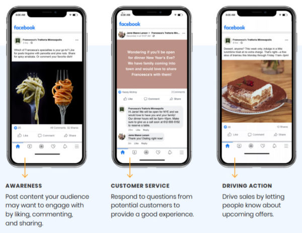 Facebook for restaurants