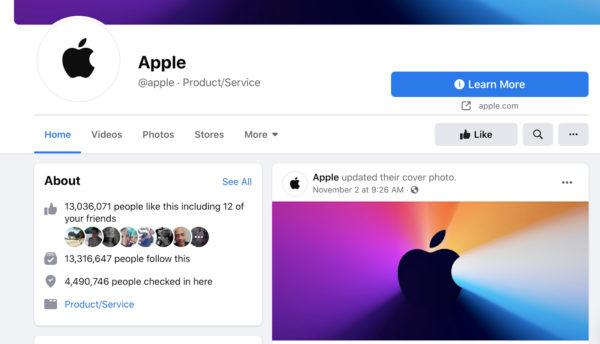 Apple social media example