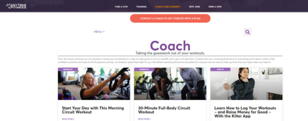blog examples - Coach Care Connect by Anytime Fitness