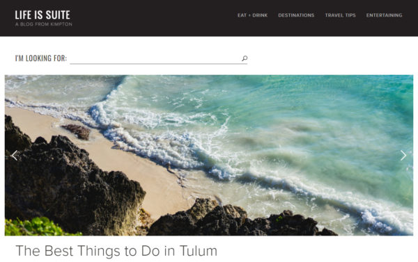 blog examples - Live is Suite by Kimpton Hotels
