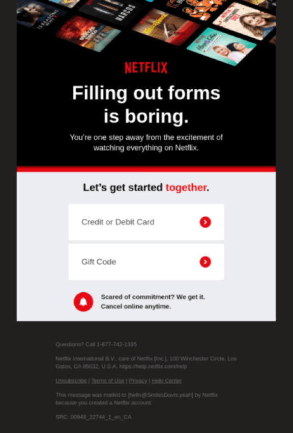 great email designs add context to compel readers to click