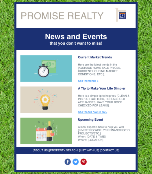 real estate email templates for newsletters