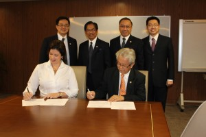 Signing a MOU with Universitas Pelita Harapan for an International Teachers College.