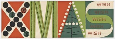 Christmas Card by Frederick Hammersley; Archives of American Art, Smithsonian Institution