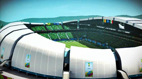 Arena das Dunas. Crédito: game Fifa World Cup 2014/EA Sports