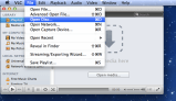 File Menu, Open Disc