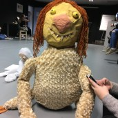 Our puppet based on one of the Where The Wild Things Are