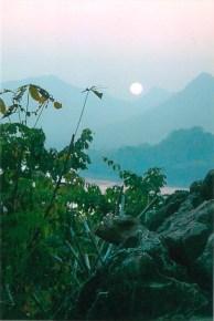 Sunset from Phousi Hill, Luang Prabang, Laos