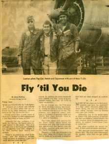 Fly 'til You Die Newspaper Article