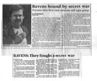 Ravens bound by secret war newspaper article