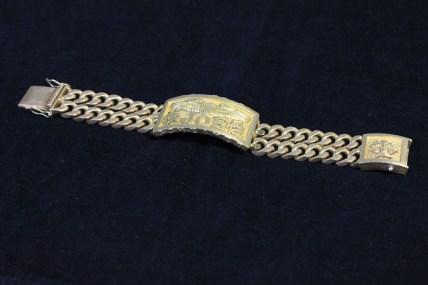 Joe's Gold ID bracelet