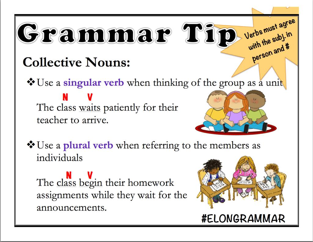 Grammar Tips Passive Voice Amp Collective Nouns
