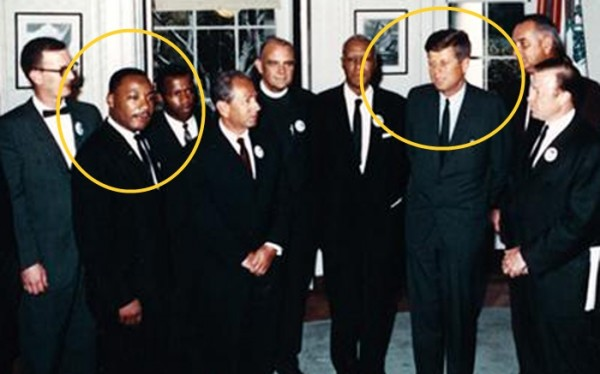 Martin Luther King y Kennedy