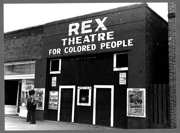 Le cinéma Rex pour gens de couleur.