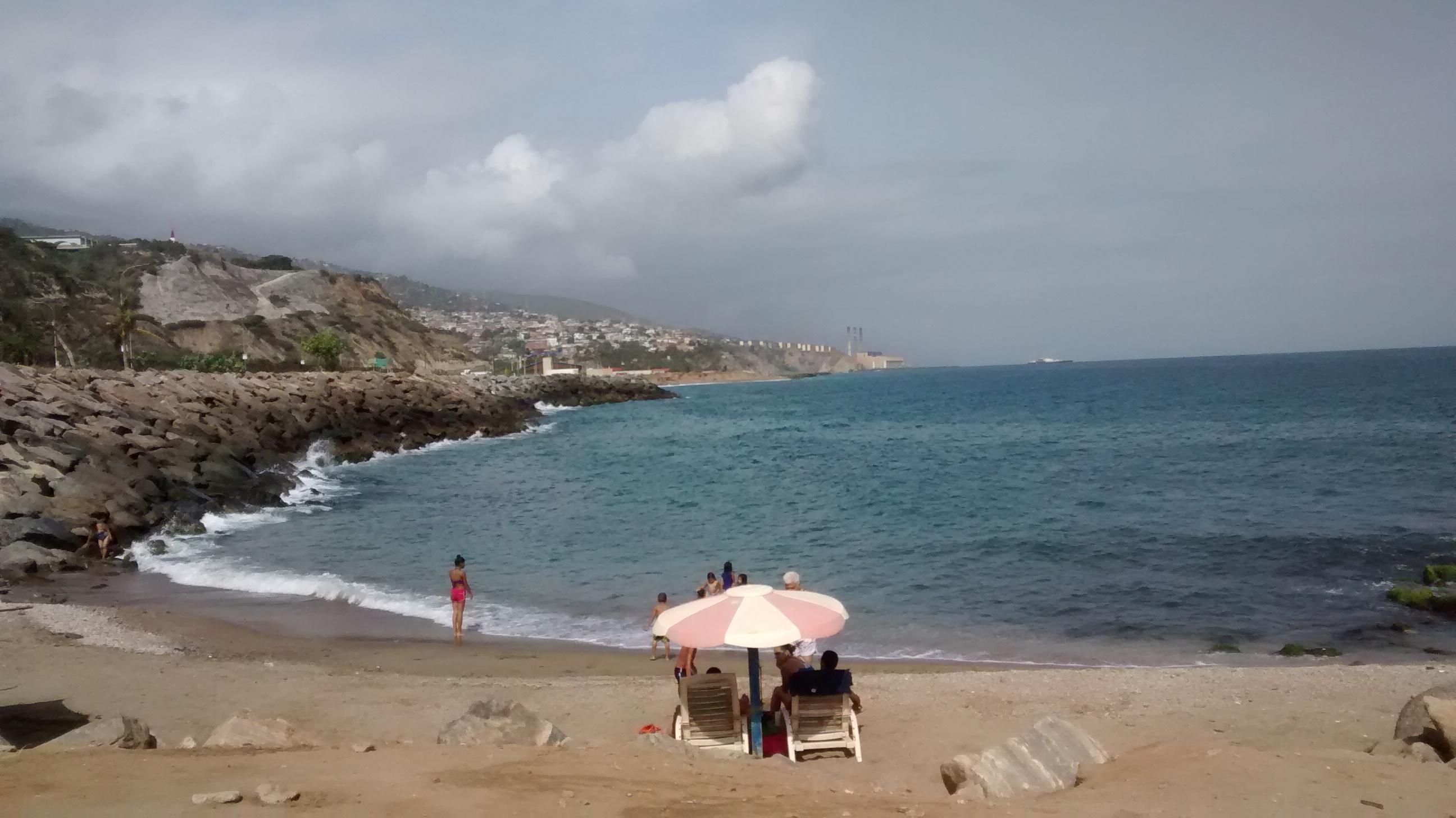 The beach at La Guaira, Vargas, Venezuela.