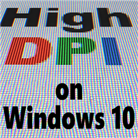 High DPI on Windows 10