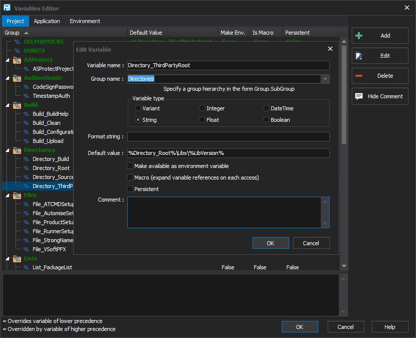 finalbuilder-variables