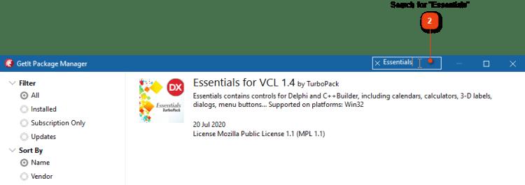 Enter 'Essentials' in Search