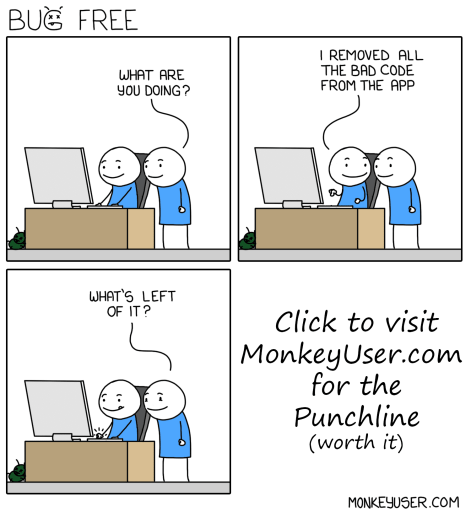 Bug Free by MonkeyUser.com
