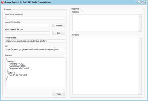 Delphi project for audio transcription