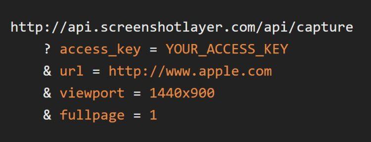 How To Capture Highly Customizable Website Snapshots API usage screen shot