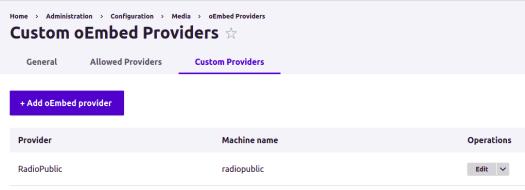 Add oEmbed Provider