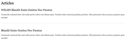 Views content translation, showing duplicate content in an article list.