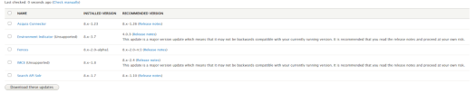 Checking the versions of Drupal modules as part of security audit