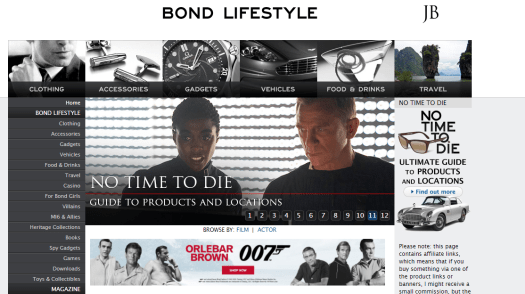 The home page of Bond Lifestyle can be seen.