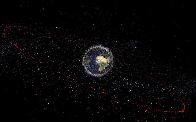 The distribution of space debris. Image: ESA.