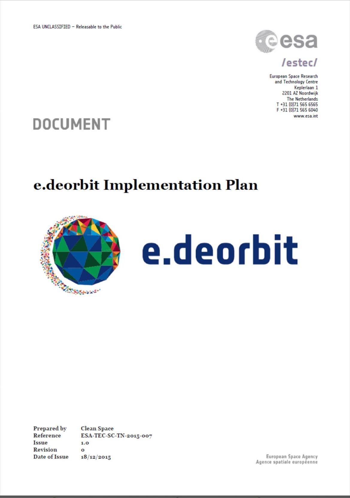 2015 e.deorbit implementation plan