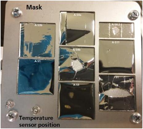 UV test sample holder Credit: HTS
