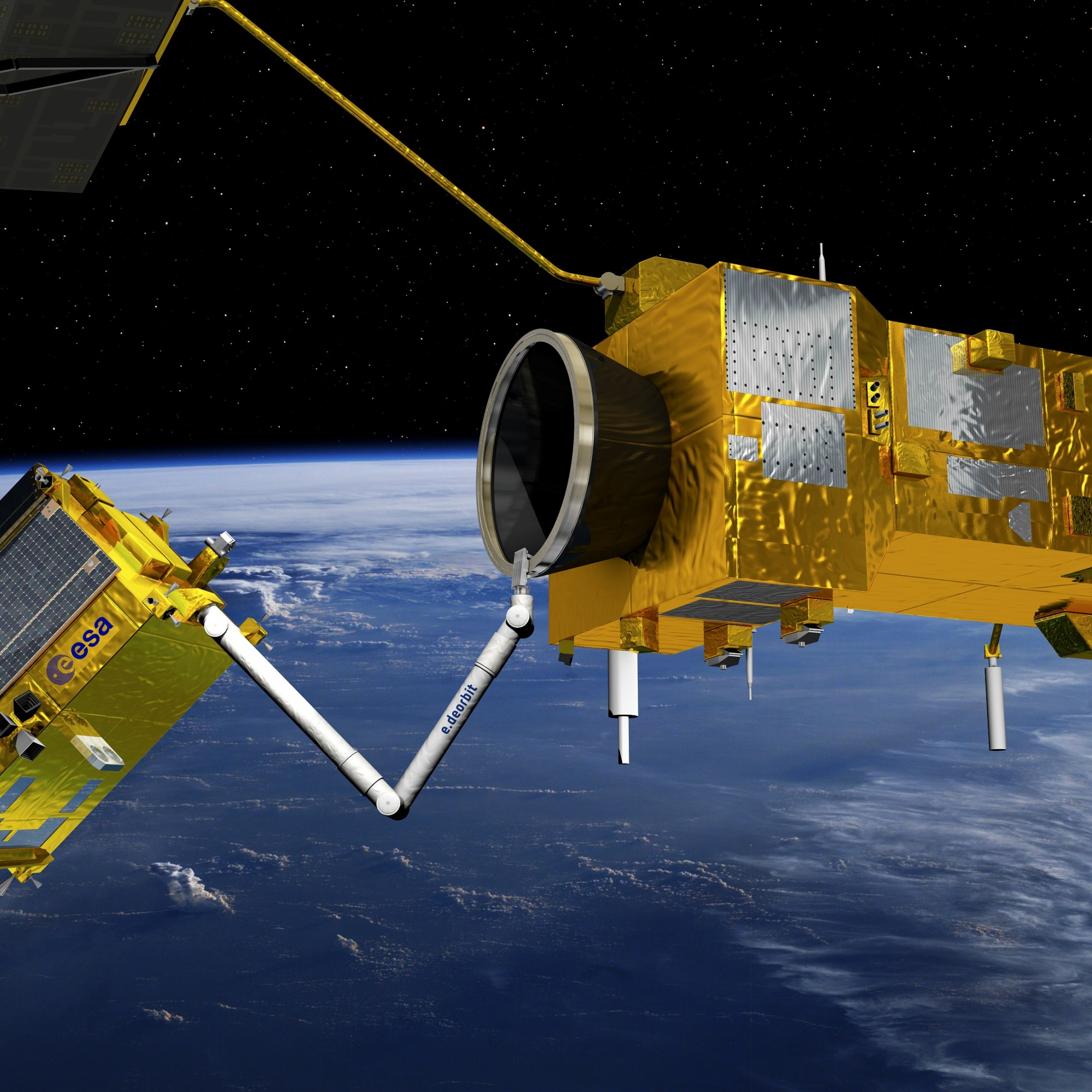 e.Deorbit is an ESA mission to remove a single large ESA-owned debris from orbit