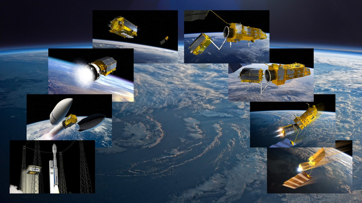 e.Deorbit was an ESA mission to remove a single large ESA-owned debris from orbit