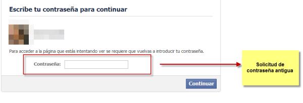 Facebook Vulnerabilidad contraseña antigua