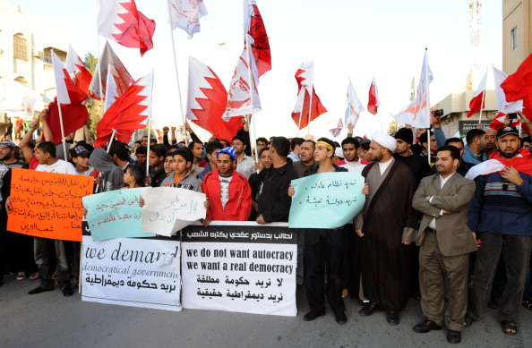 Bahraini pro-democracy demonstrators