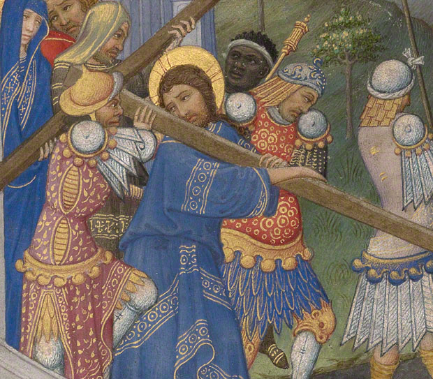 """""""The most fashionable people in medieval art are often the bad guys. The tormentors of Christ are usually dressed to the nines""""."""