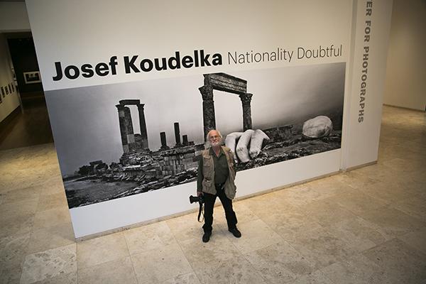 Josef Koudelka in the Getty Center galleries, November 2014