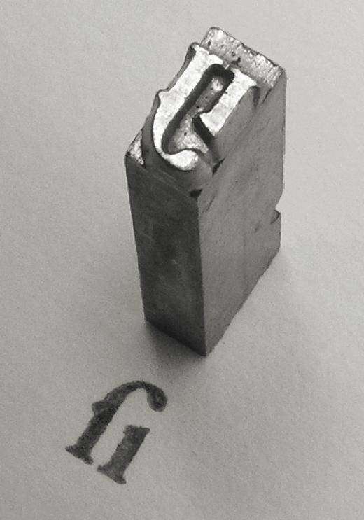 Sample of metal Garamond type