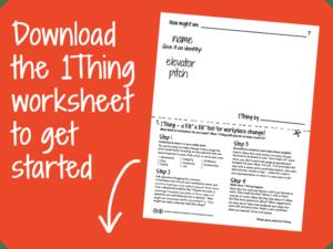 Download the 1Thing worksheet PDF