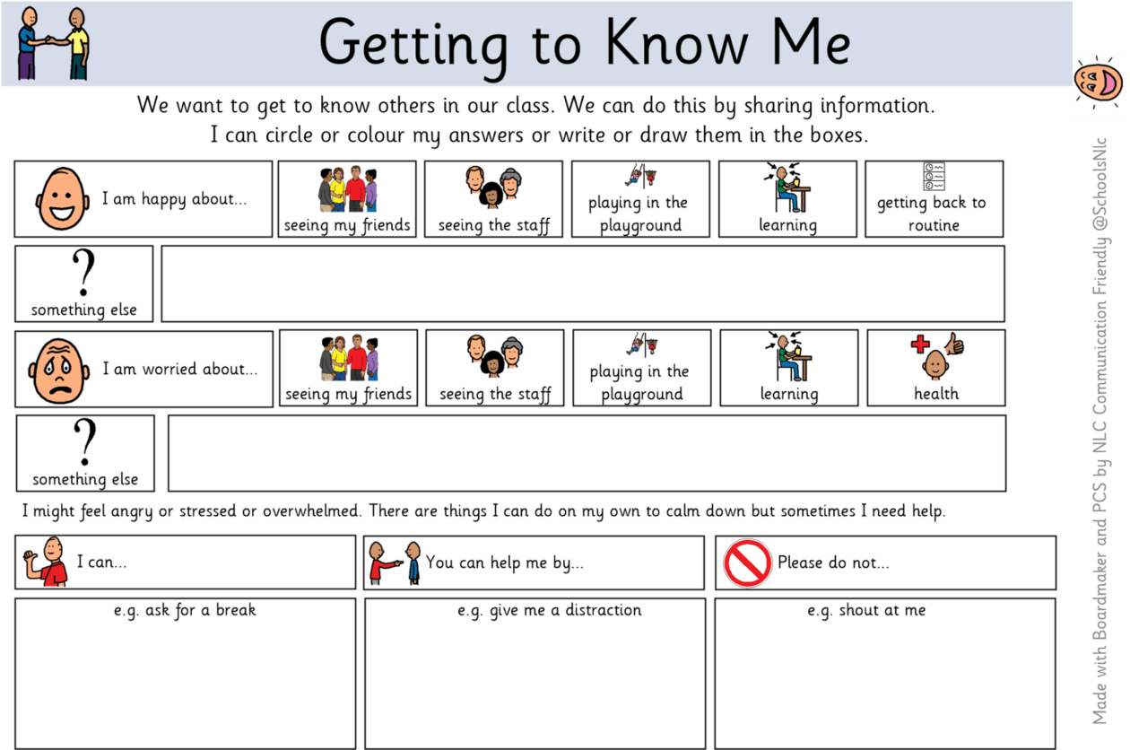 Getting To Know Me Activities