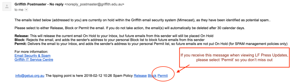 Email content spam protection
