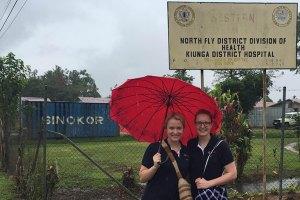 Medicine students Rebecca Calder and Michelle Burnham