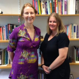 Dr Jennifer Boddy (left) with PhD Candidate, Sylvia Ramsay
